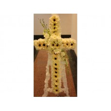 Condolence Floral Stand of Chrysanthemums, Gerberas, Roses and Orchids