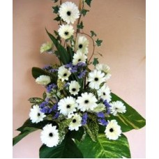 Condolence Floral Stand of Geberas