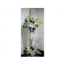 Condolence Floral Stand of Roses, Orchids and Gladiolus
